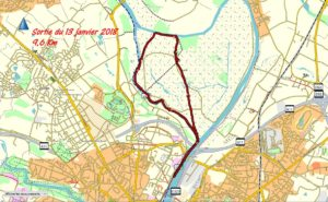L'île St Aubin Trace GPS